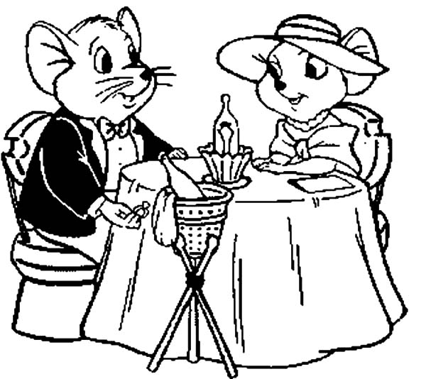 600x534 The Rescuers Miss Bianca And Bernard Looking For A Clue