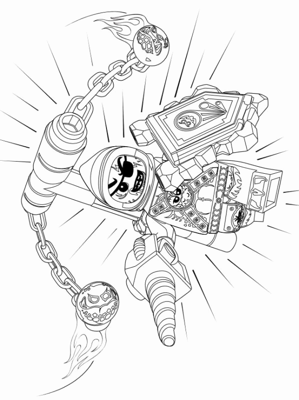 Nexo Knight Coloring Pages