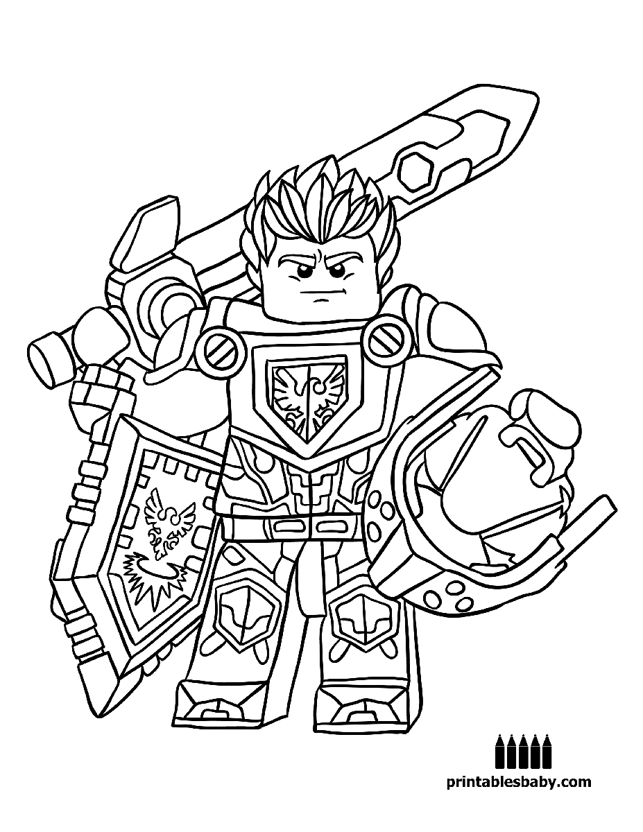 Nexo Knight Coloring Pages At Getdrawings Com Free For Personal