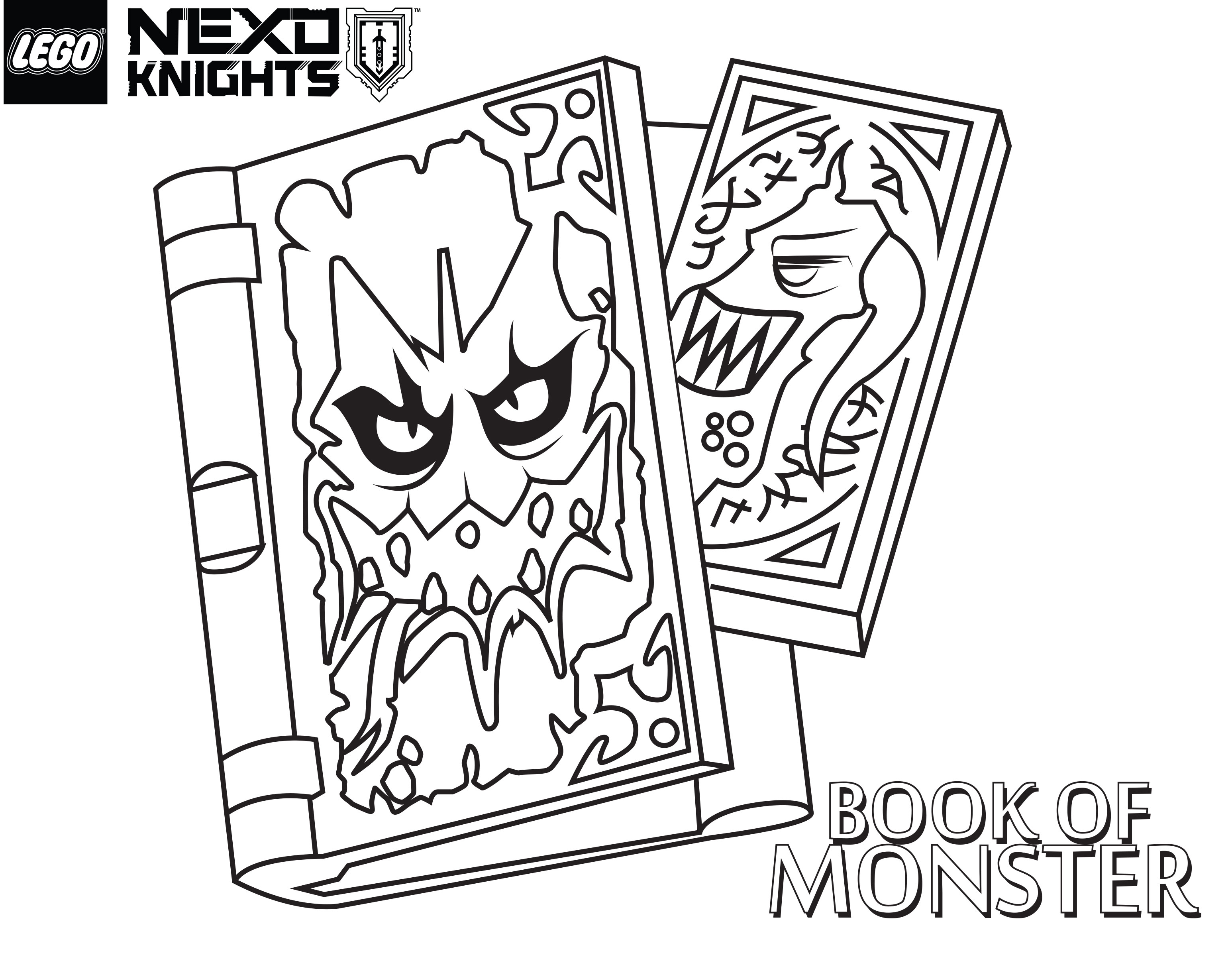 3092x2416 Lego Nexo Knights Coloring Pages Book Of Monsters