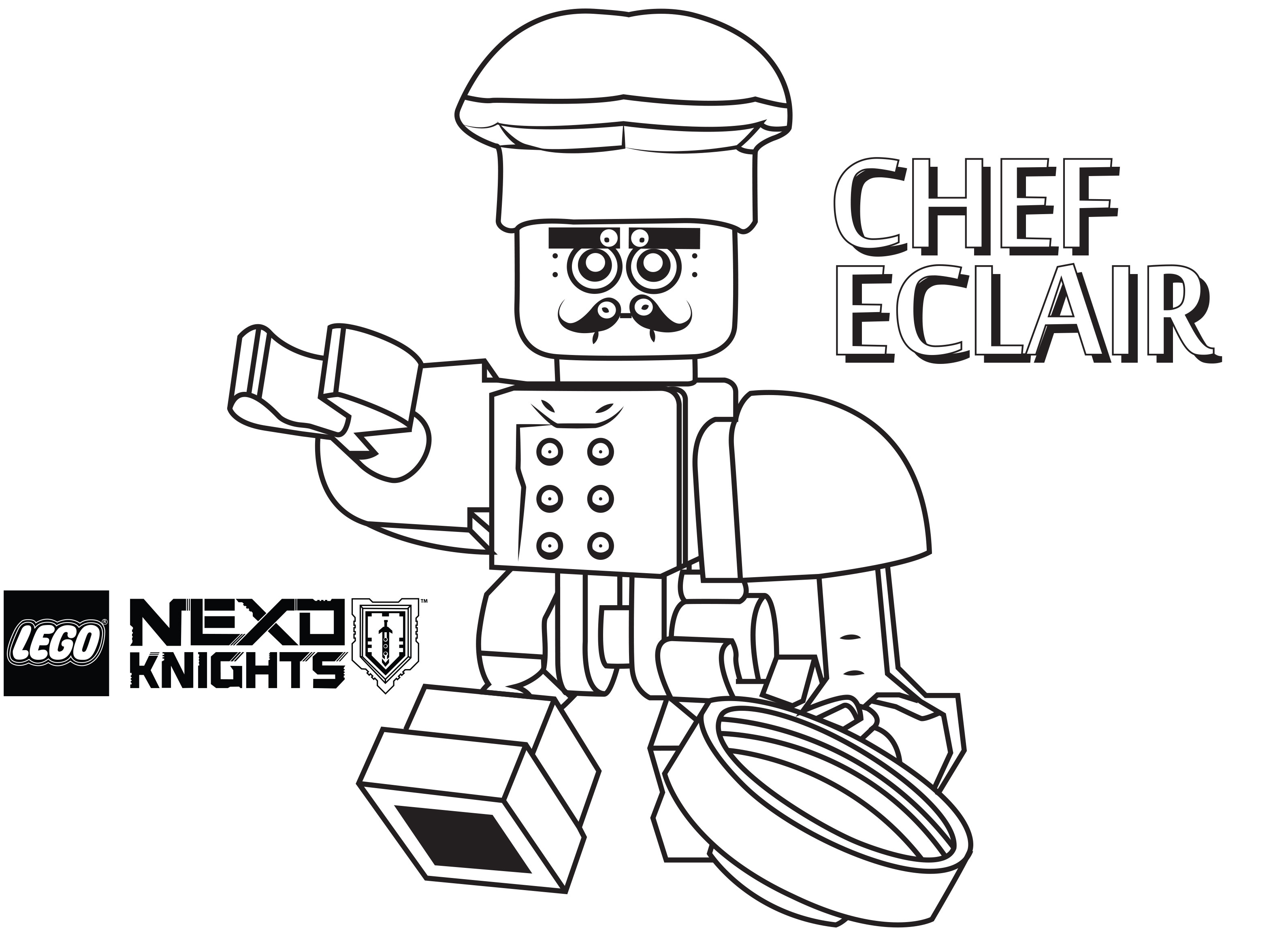 3180x2342 Lego Nexo Knights Coloring Pages Chef Eclair