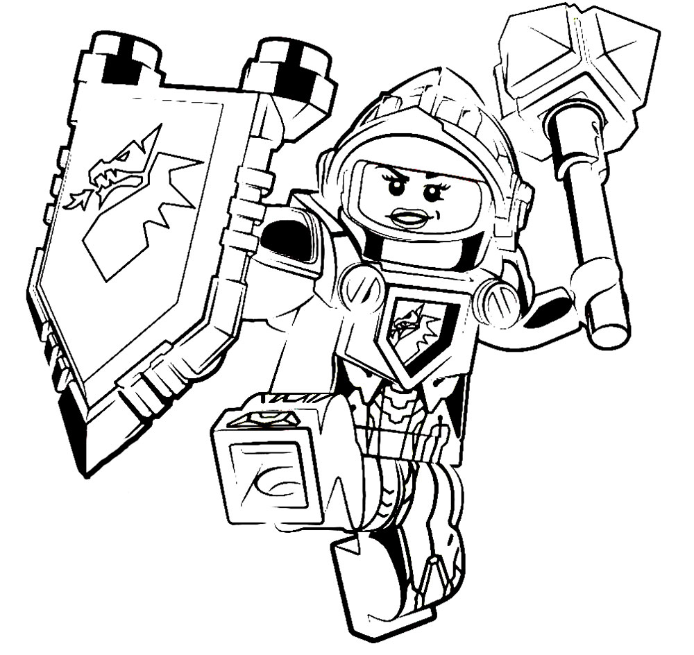 1000x944 Lego Nexo Knights Coloring Pages