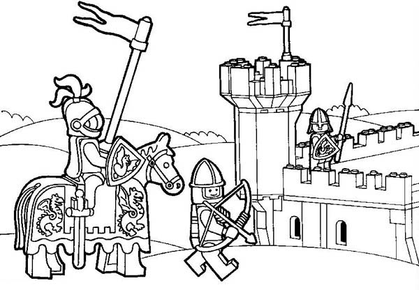 600x416 Lego Kingdom Coloring Pages