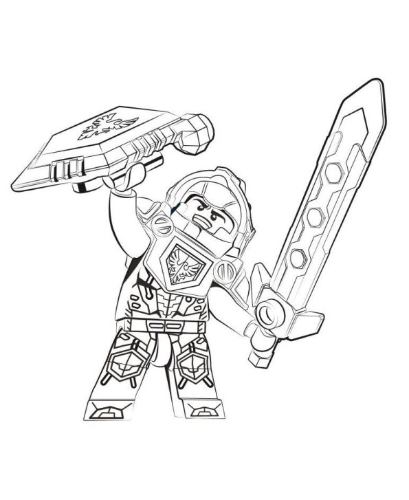595x727 Kids N Coloring Pages Of Lego Nexo Knights