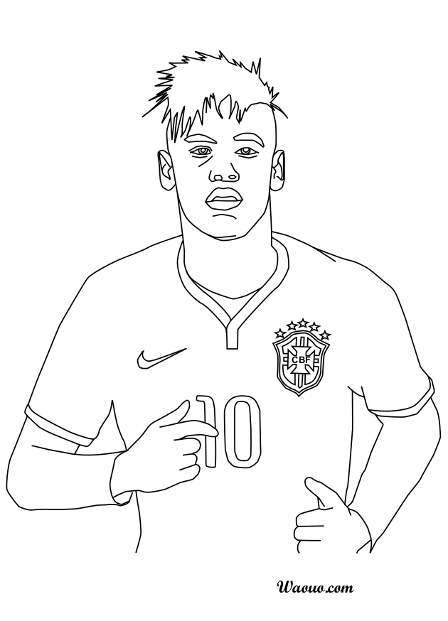 Neymar Coloring Pages