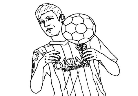 476x333 Messi Coloring Pages