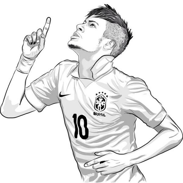Neymar Coloring Pages - Coloring Home | 600x600
