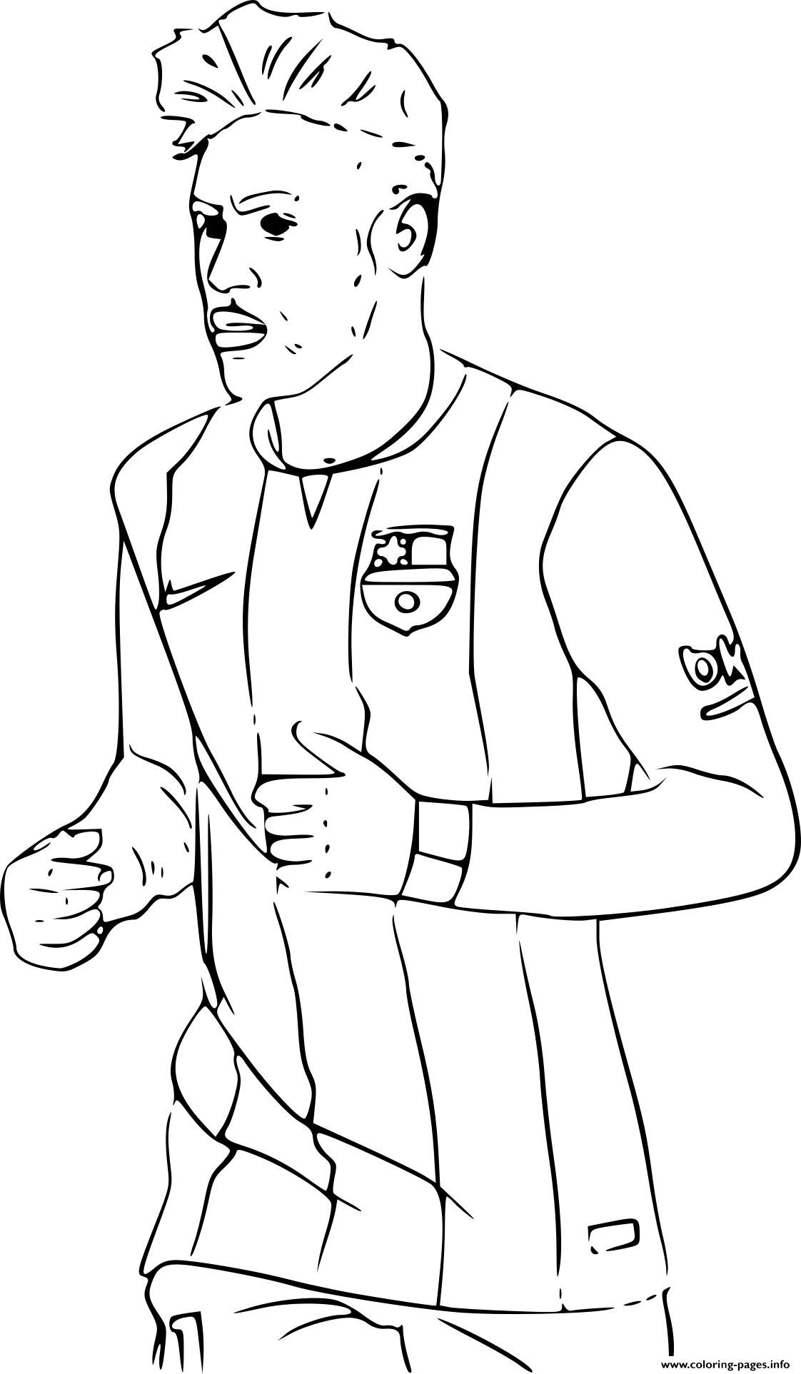 1122x1925 Soccer Coloring Pages Neymar Of Ronaldo Picture Lionel Messi
