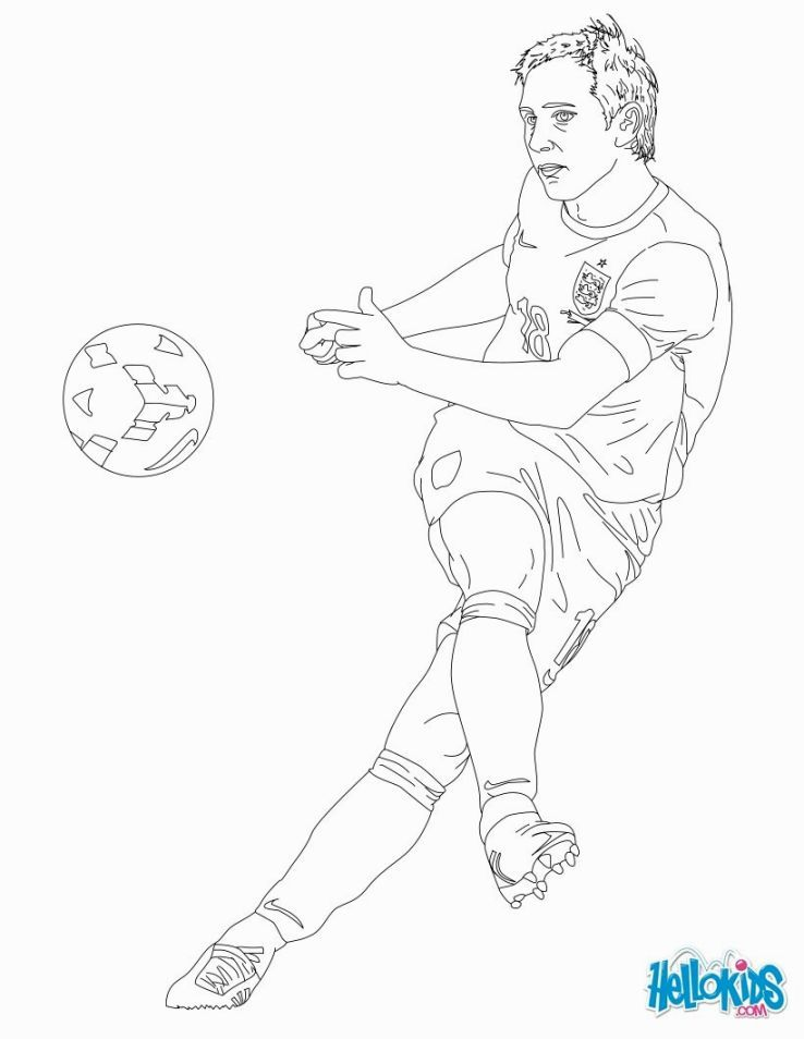 738x954 Soccer Players Coloring Pages Voetbal Soccer