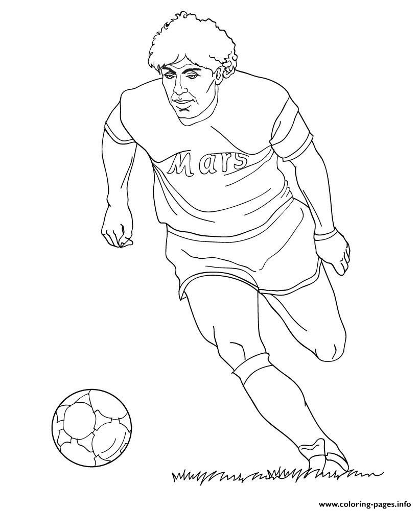 820x1001 Diego Maradona Soccer Coloring Pages Printable