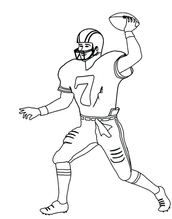 600x764 Nfl Coloring Pictures