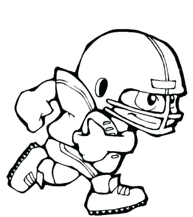 618x694 Nfl Coloring Pages Players Coloring Pages Of Football Players