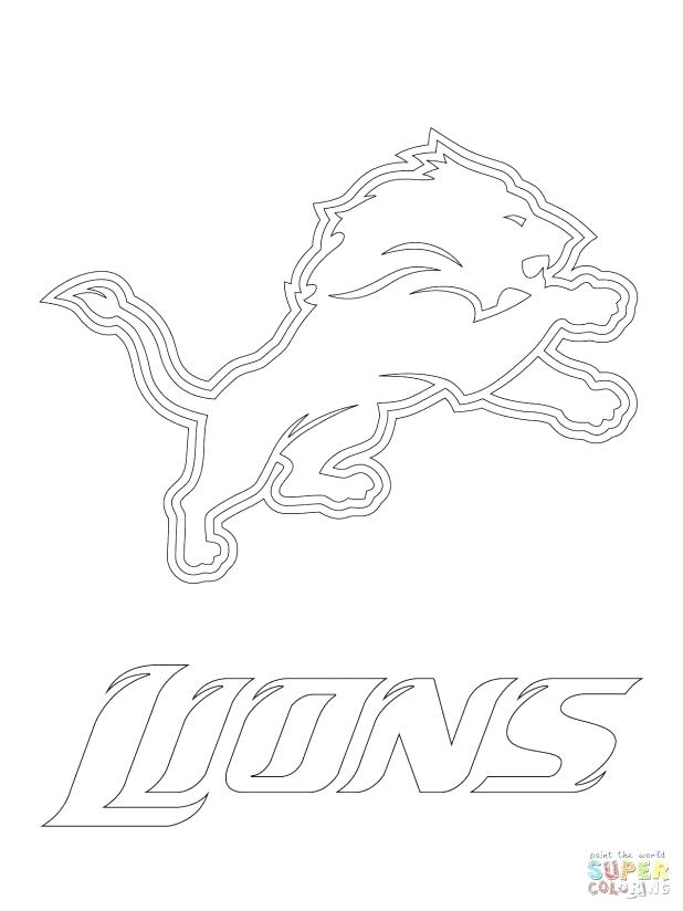618x824 Appealing Nfl Coloring Pages Lions Logo Super Coloring Remarkable