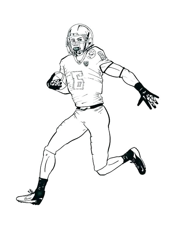 600x776 Free Nfl Coloring Pages