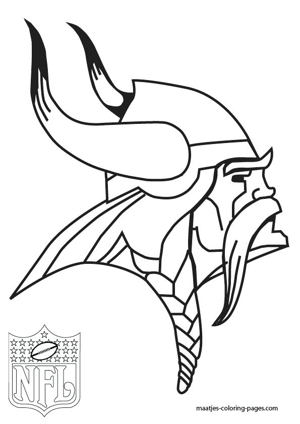 595x842 Nfl Coloring Pages Free Nfl Coloring Pages Vikings On Free Nfl