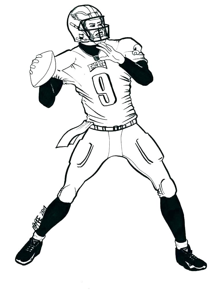 756x1024 Nfl Coloring Page