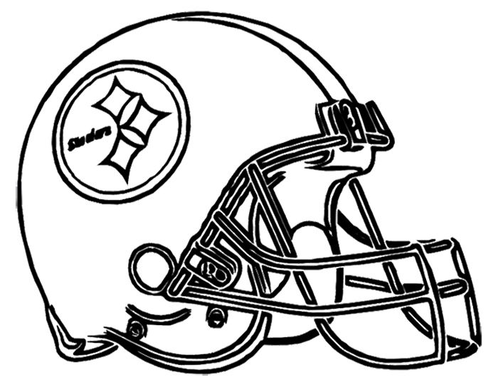 700x541 Pittsburgh Steelers Helmet Coloring Page