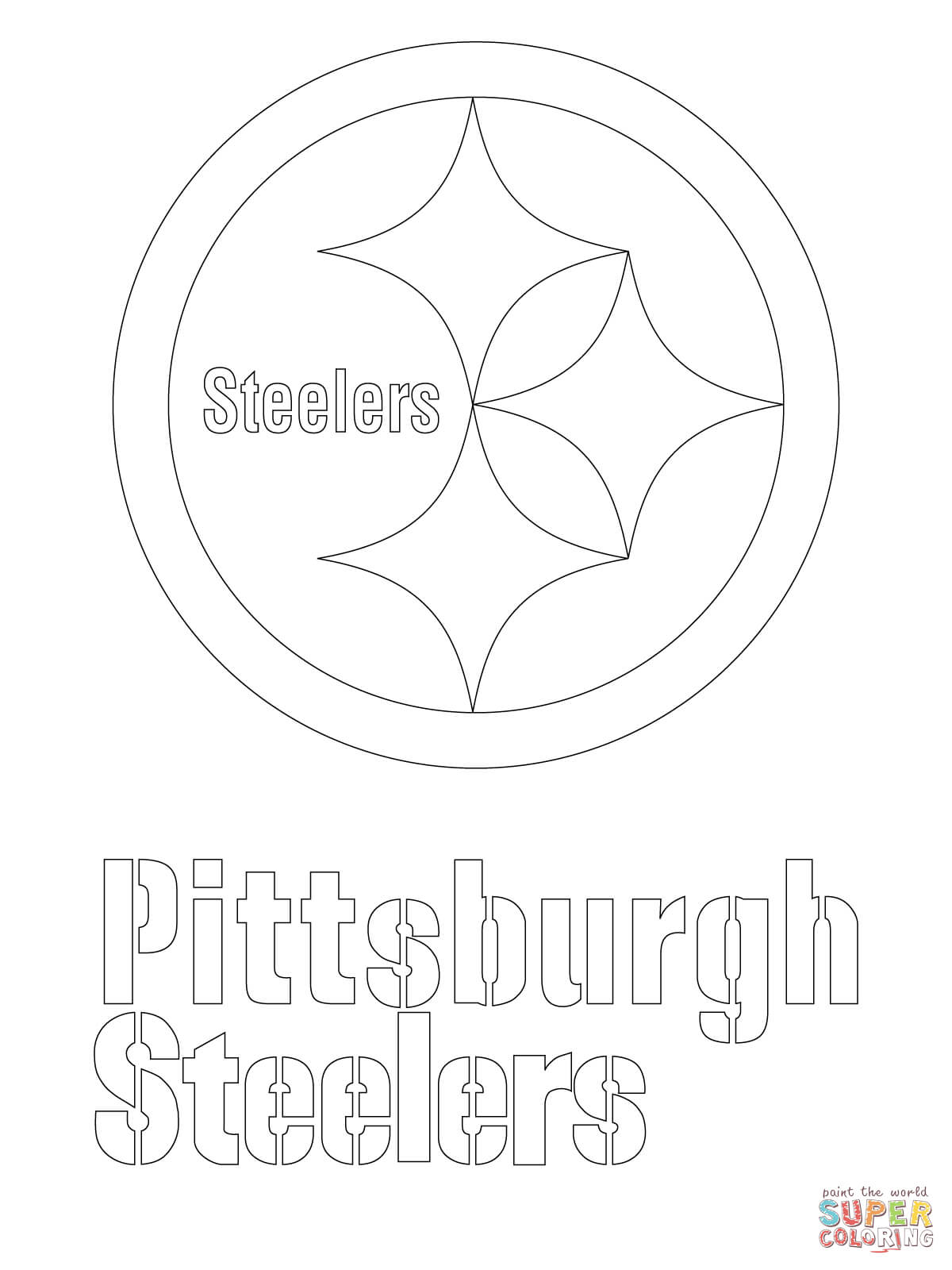 1200x1600 Pittsburgh Steelers Logo Coloring Page Free Printable Coloring