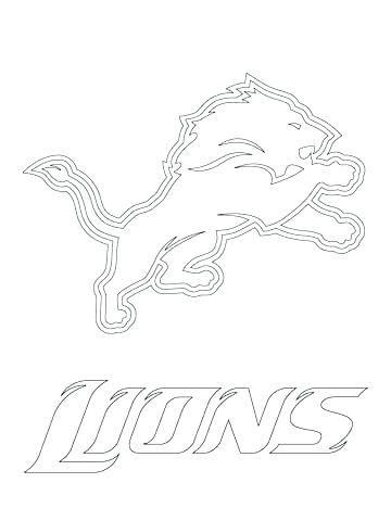 360x480 Free Nfl Coloring Pages Coloring Books Lions Logo Coloring Page