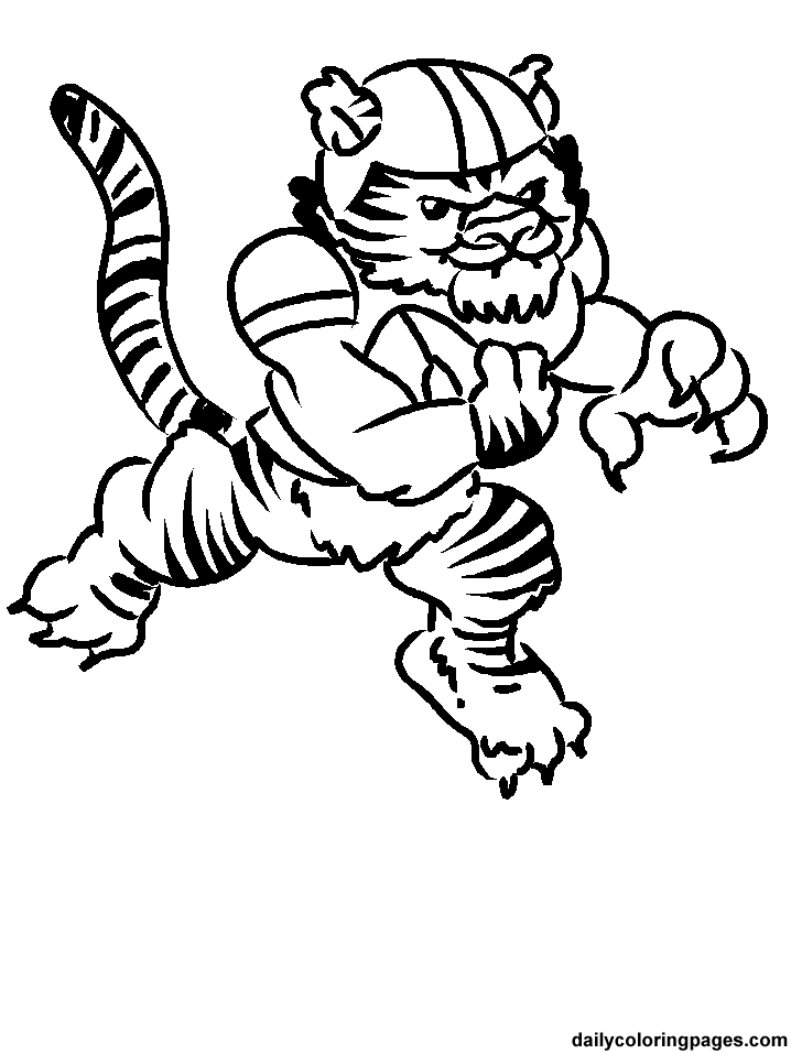 718x957 Nfl Football Coloring Pages Tiger Mascot