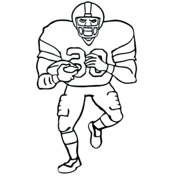 600x600 Nfl Coloring Page
