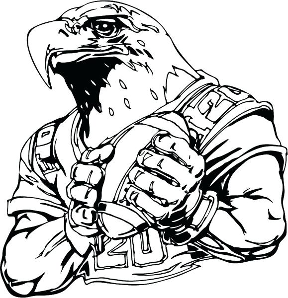 579x600 Football Coloring Pages And Football Mascots Coloring Pages