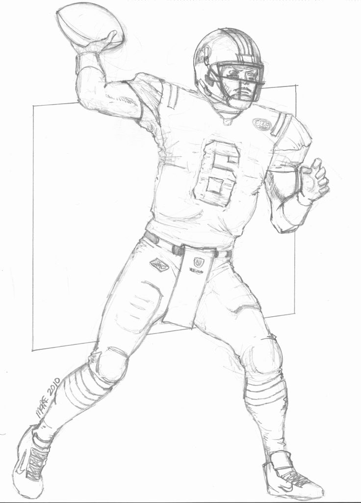 Nfl Player Coloring Pages