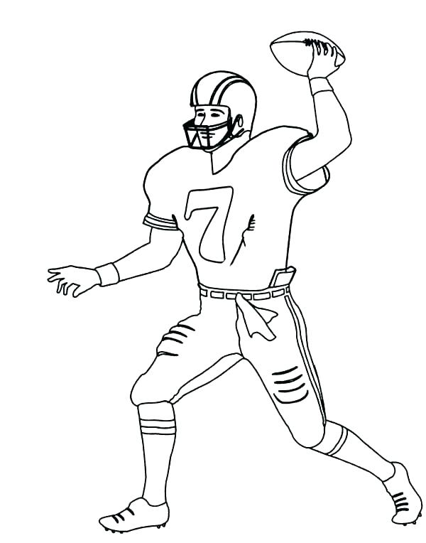 600x764 Nfl Football Player Coloring Pages Ravens Coloring Page Players