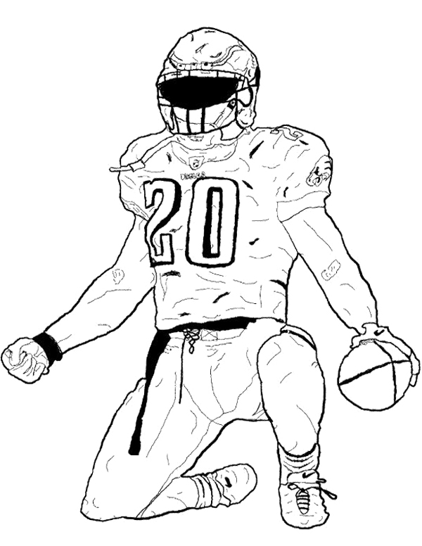 600x776 Nfl Football Player Coloring Pages Fancy Football Player Coloring