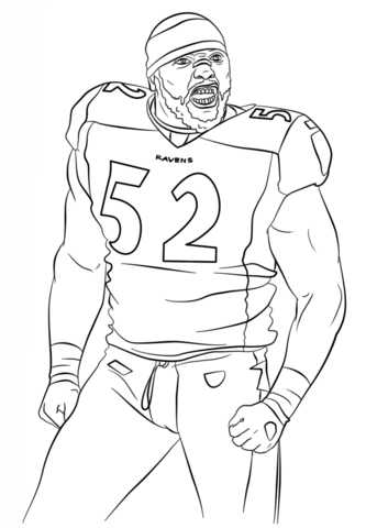 333x480 Ray Lewis Nfl Famous Atheletes Coloring Page