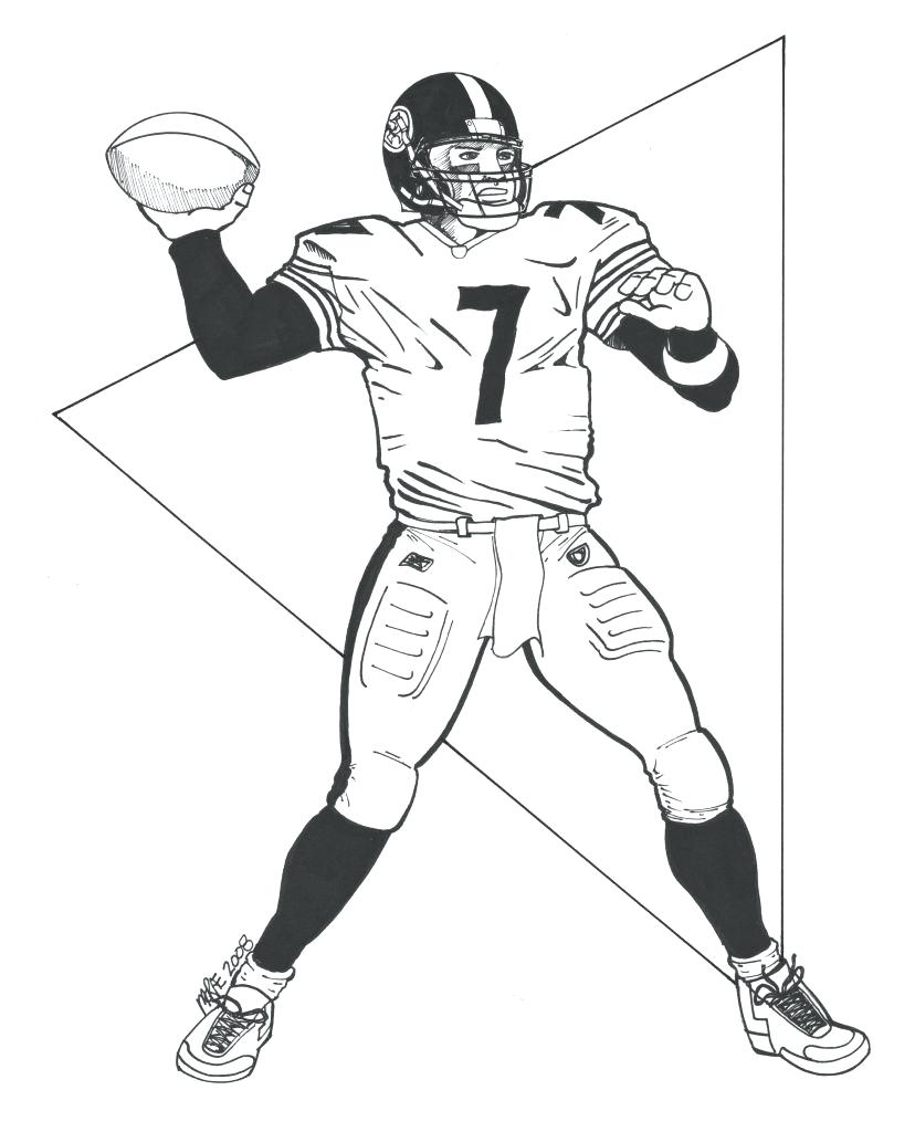 828x1024 Easily Steelers Coloring Pages Page Click The Logo Free