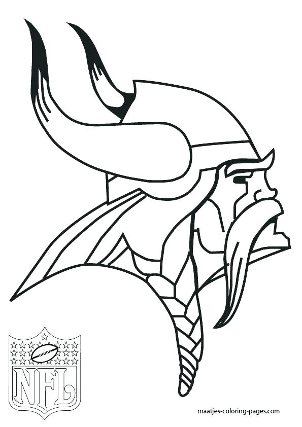 595x842 Nfl Team Helmets Coloring Pages Football Logos Vikings