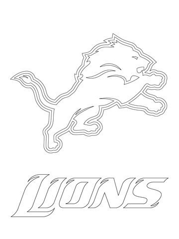 360x480 Detroit Lions Logo Coloring Page Nfl Category Select