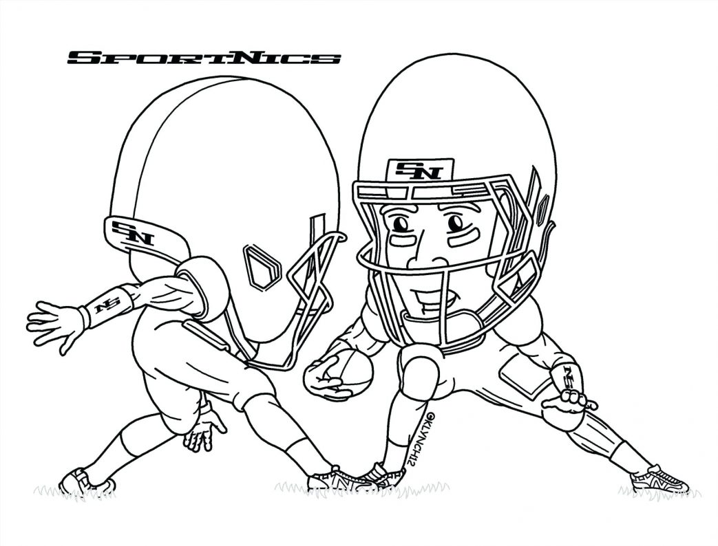 1043x794 Coloring Pages Football Nfl Player Number One Page Teams Home Flag