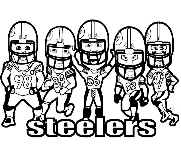 736x604 Nfl Coloring Pages Steelers Players