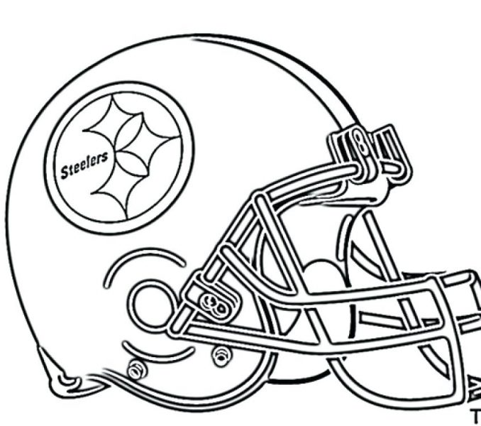 678x600 Coloring Pages Of Football Teams Nfl Helmet Coloring Pages