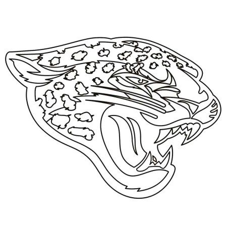 450x450 Jacksonville Jaguars Team From Nfl Coloring And Activity Page