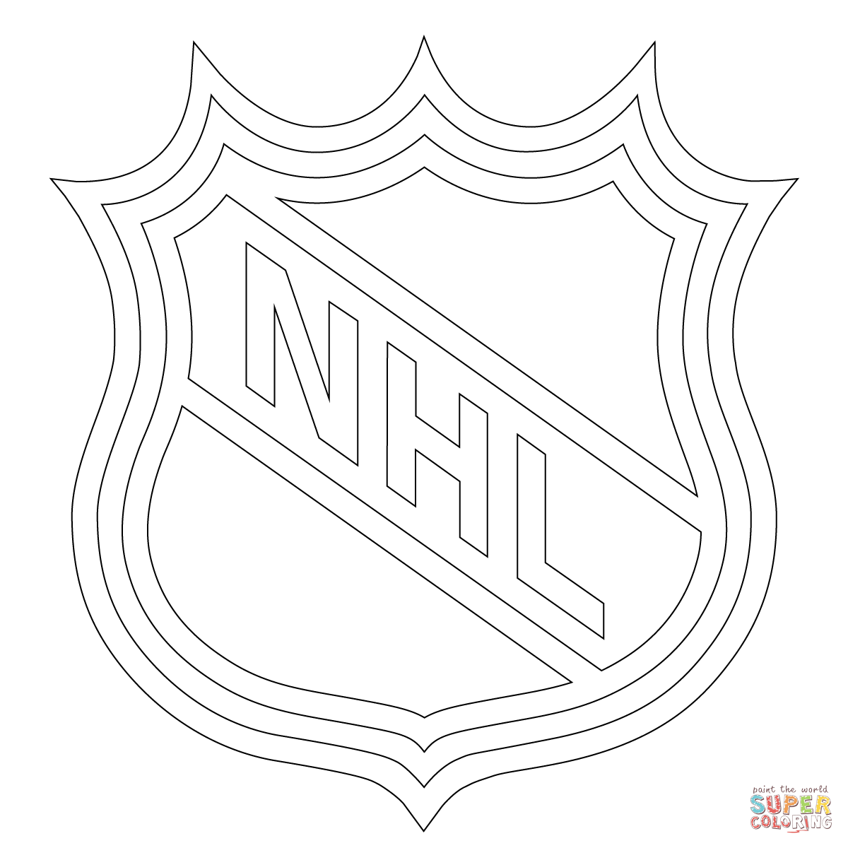 1200x1200 Nhl Logo Coloring Page Free Printable Coloring Pages Nhl Coloring