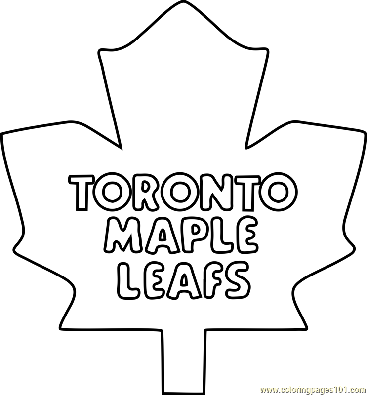 743x800 Toronto Maple Leafs Coloring Pages Toronto Maple Leafs Logo