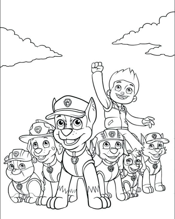 584x730 Nickjr Coloring Pages Free Nick Jr Paw Patrol Printable Coloring