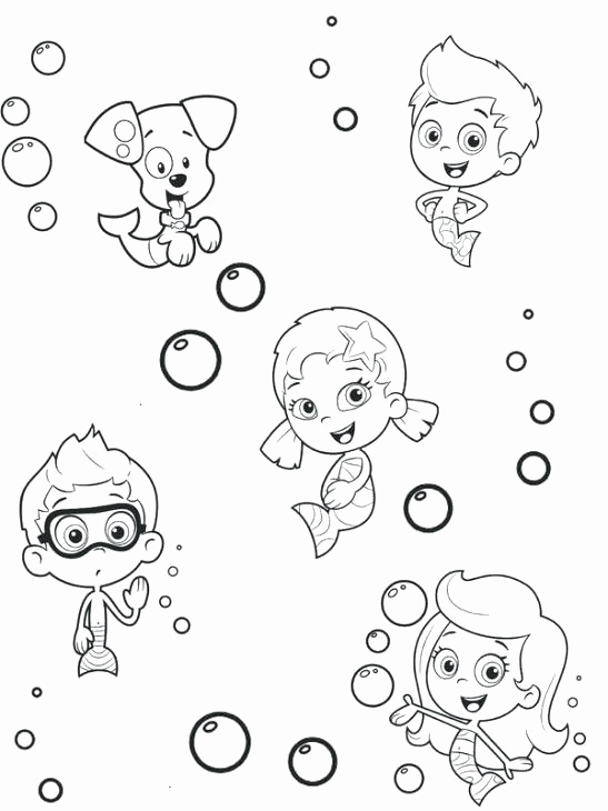 547x730 Bubble Guppies Printable Coloring Pages Nick Jr Coloring Pages