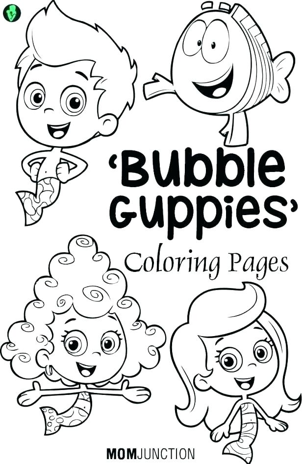 618x947 Nick Jr Coloring Pages Bubble Guppies