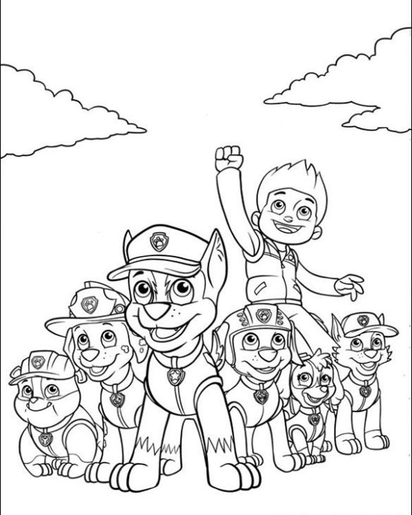 584x730 Paw Coloring Pages Free Nick Jr Paw Patrol Printable Coloring Page