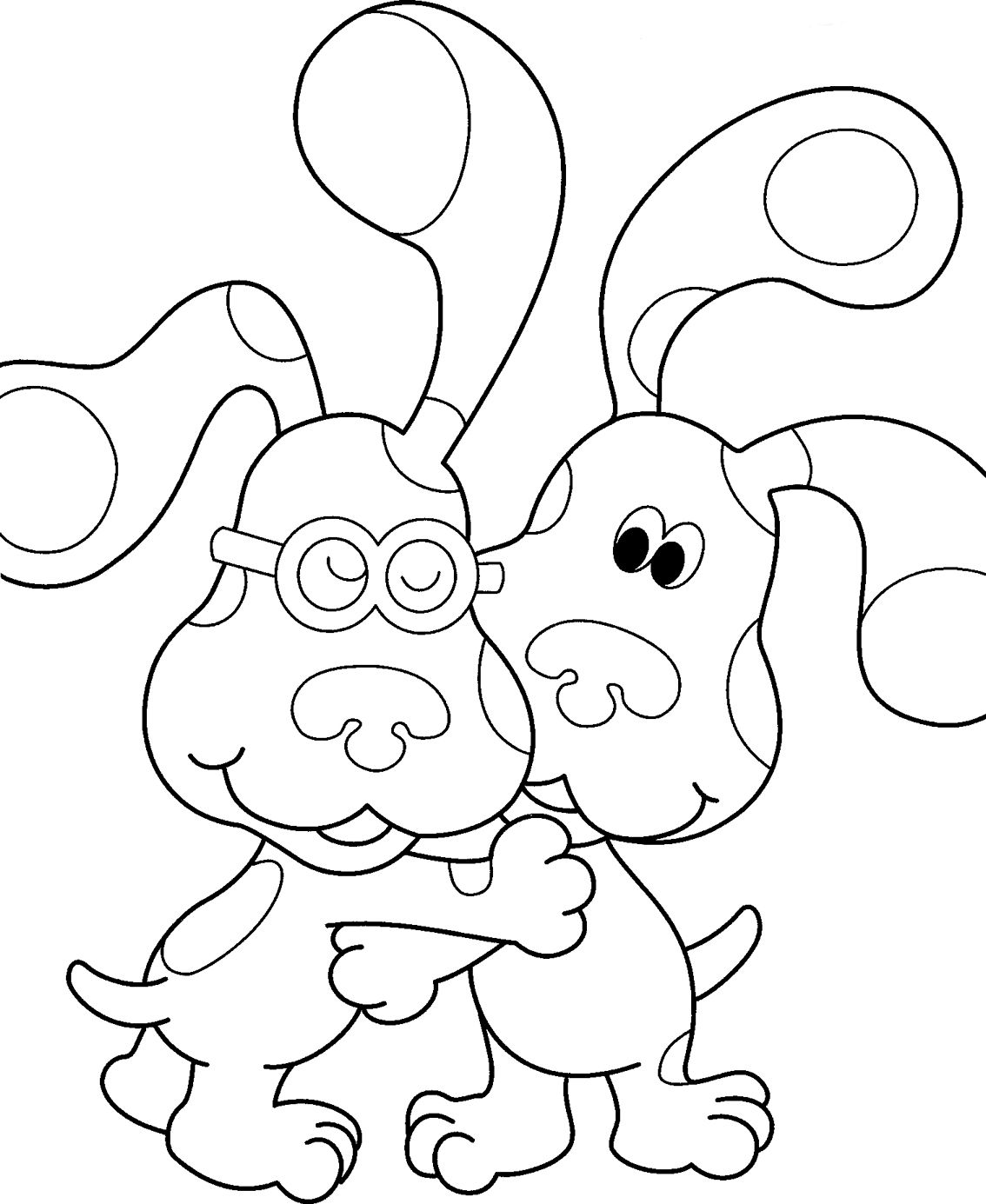 1134x1385 Street Art Coloring Pages Nickjr's Blues Clues Coloring Book