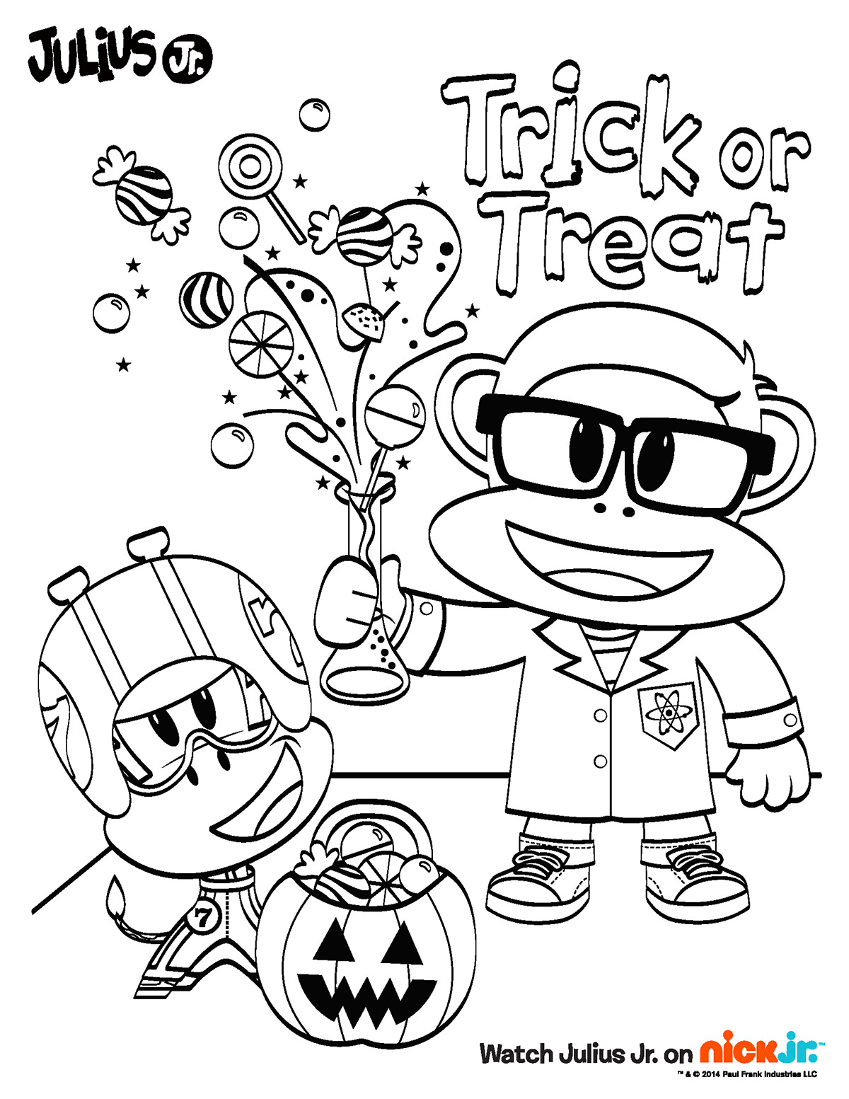 1200x1553 Nick Jr Halloween Coloring Pages Newyork