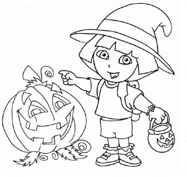600x568 Nick Jr Halloween Coloring Pages