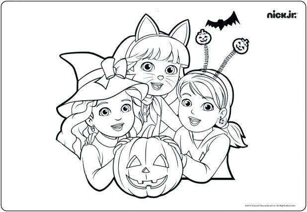 618x427 Nick Jr Halloween Coloring Pages Nick Jr Coloring Pages As Well As