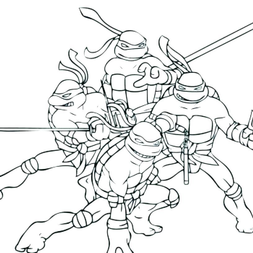 816x816 Ninja Turtle Coloring Pages Online Ninja Turtles Coloring Sheets