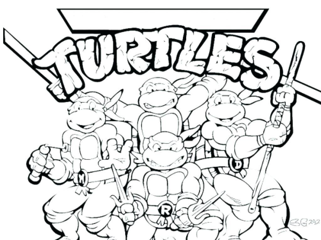 1024x766 Coloring Ninja Turtles Coloring Pages Printable Teenage Mutant