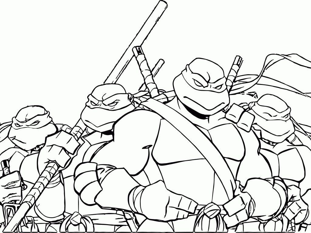 1024x768 Teenage Mutant Ninja Turtles Coloring Pages
